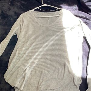 Light gray free people long sleeve